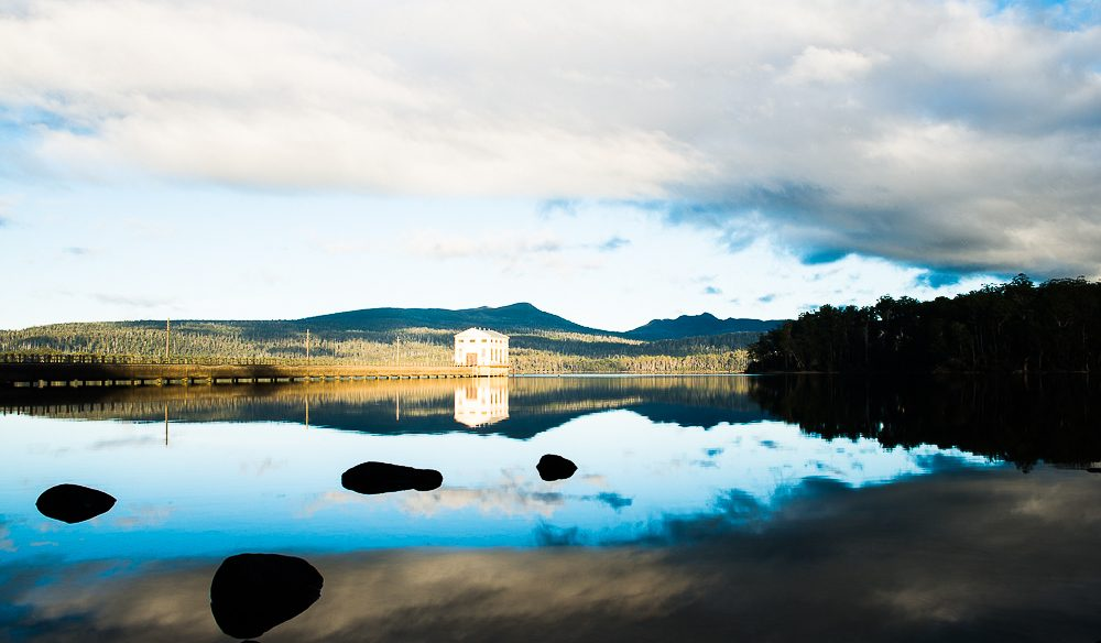 Watery wilderness views to drink in at Pumphouse Point on Tasmania's Lake St Clair.