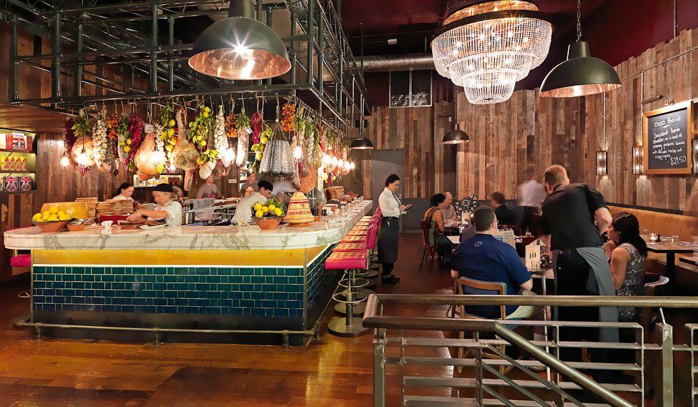 Busy, busy, busy... Jamie's Italian, Brisbane.