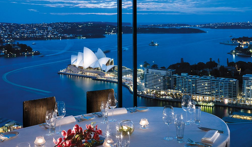 Uninterrupted harbour views from the heavens; Altitude, Shangri-La Sydney.