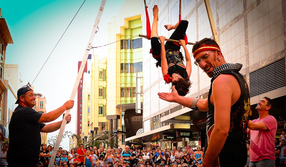 Taking it to the streets of Adelaide: Street Theatre Festival (photo: Trentino Priori).