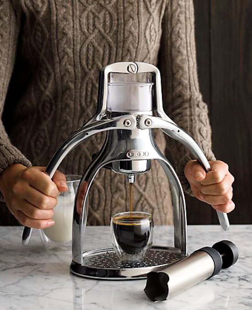 ROK Espresso Maker - a good cup of coffee makes a happy glamper.