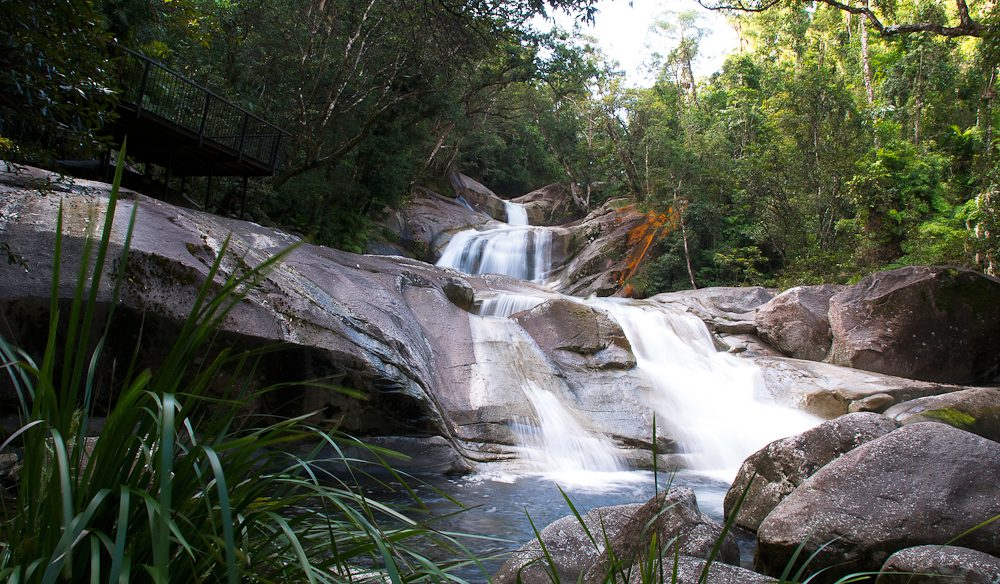 Why do you need to go to Josephine Falls? One word: sliding>