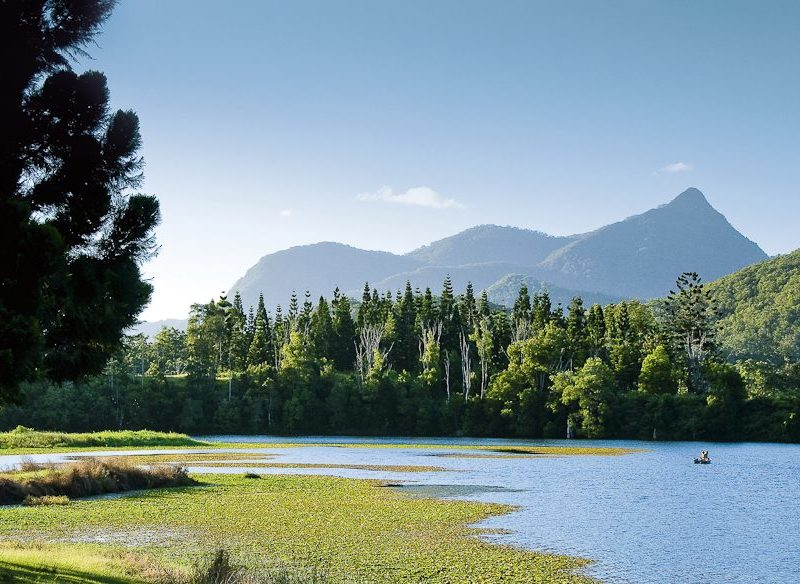 Mount Warning from Clarrie Hall Dam Tweed Valley