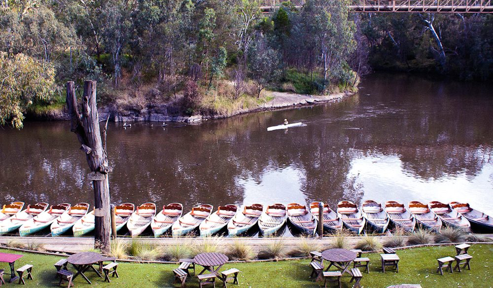 Quaint Melbourne: the Fairfield Park Boathouse and Tea Gardens.