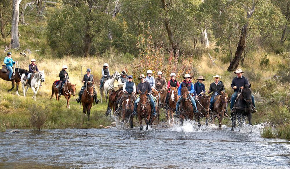 Outdoor more: Horse riding near Jindabyne, Snowy Mountains.