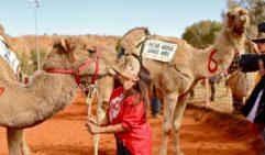 Hannah Purss, Camel Cup winner, with her camel Roman Ruma Ruma (photo: Jennifer Pinkerton).