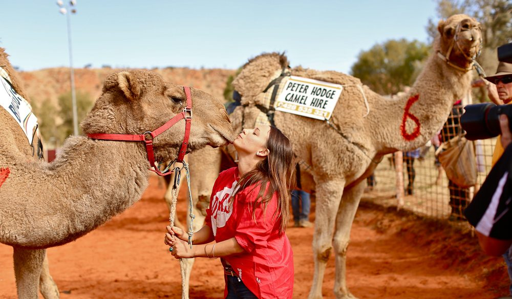 Hannah Purss, Camel Cup winner, with her camel Roman Ruma Ruma (photo: Jennifer Pinkerton).