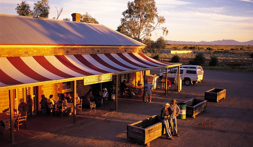 Outback style: Prairie Hotel Parachilna, Flinders Ranges.