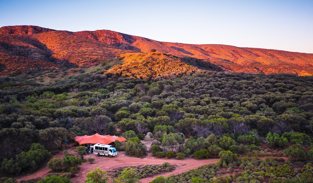Settlling in for the evening; Charlie's Camp, Larapinta Trails (photo: Graham Freeman).