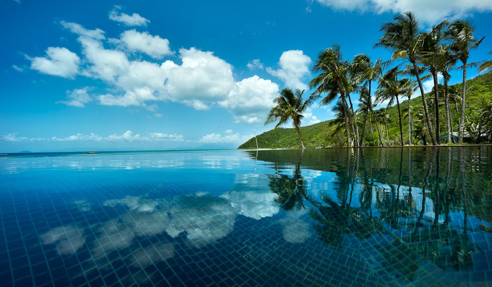 The tranquility of Orpheus Island's infinity pool.