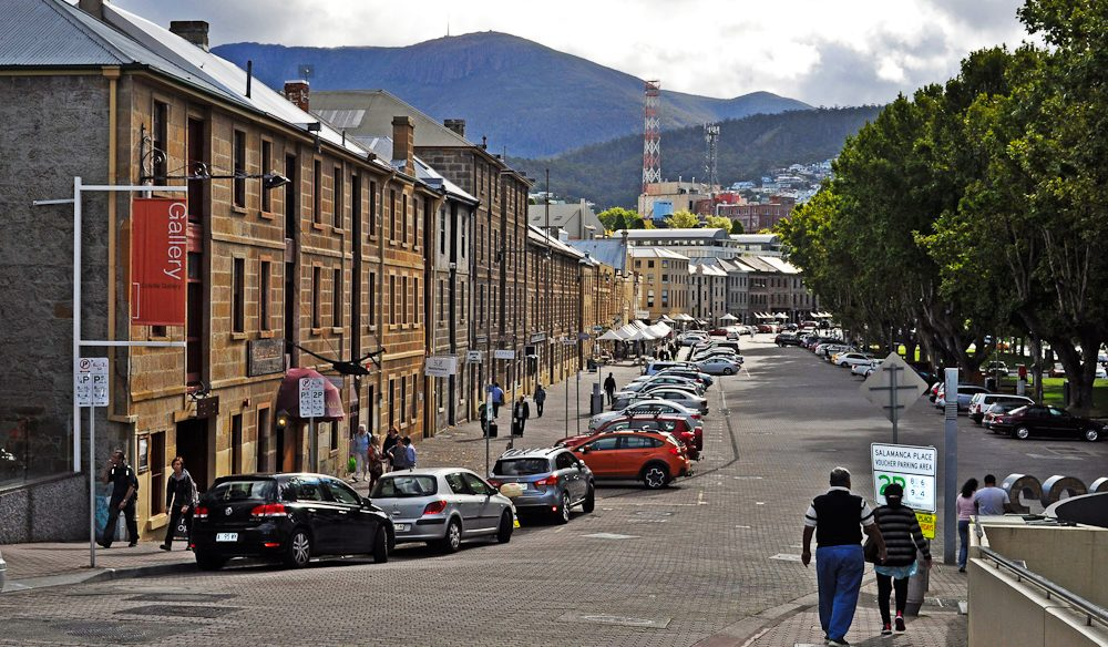 Follow us: There's an art to finding the best art in Hobart's Salamanca Place.