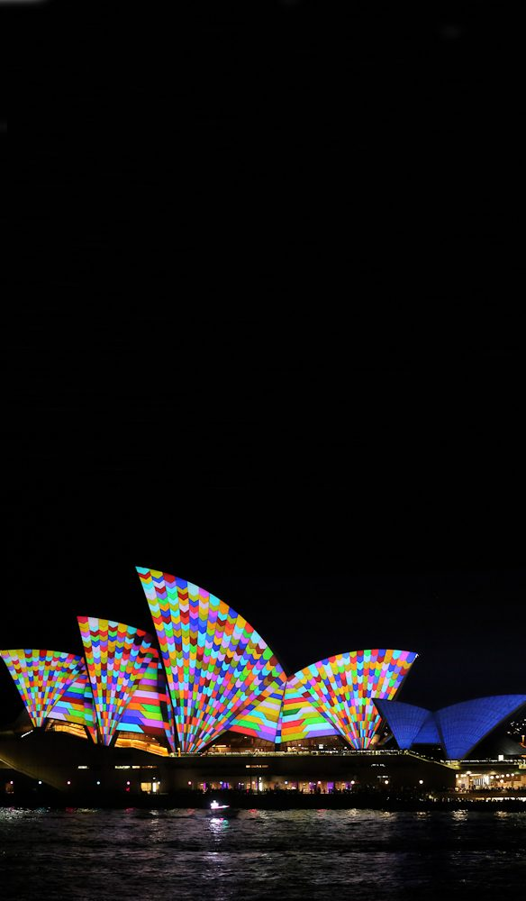 Inside and out: The Vivid light show also moves inside the Opera House this time around.