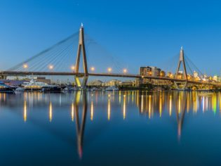 Sydney's Anzac Bridge aka Madonna's bra