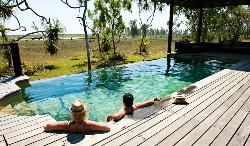 Poolside: Bamurru Plains Lodge.