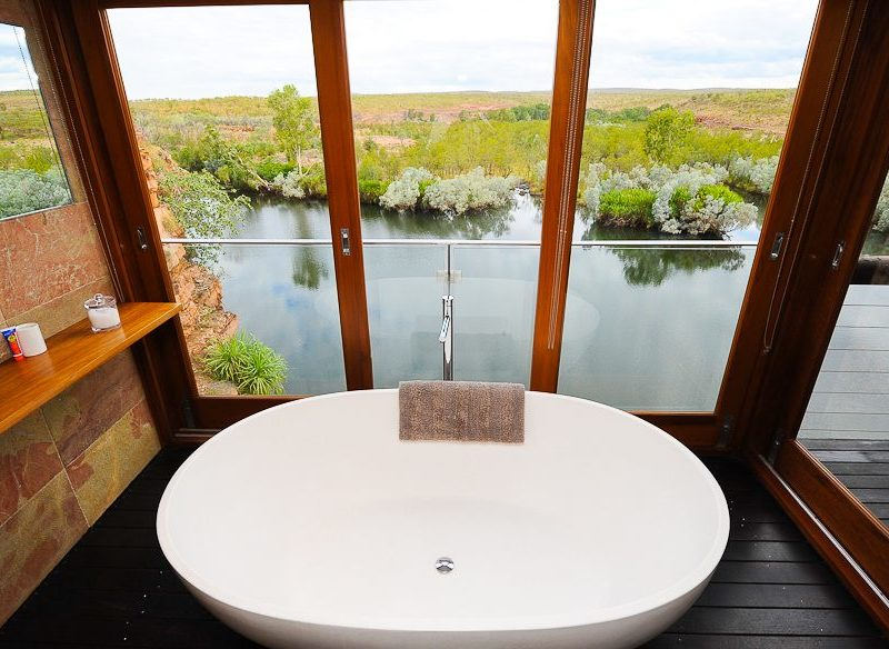 El Questro's beautiful bath tub view Kimberley.