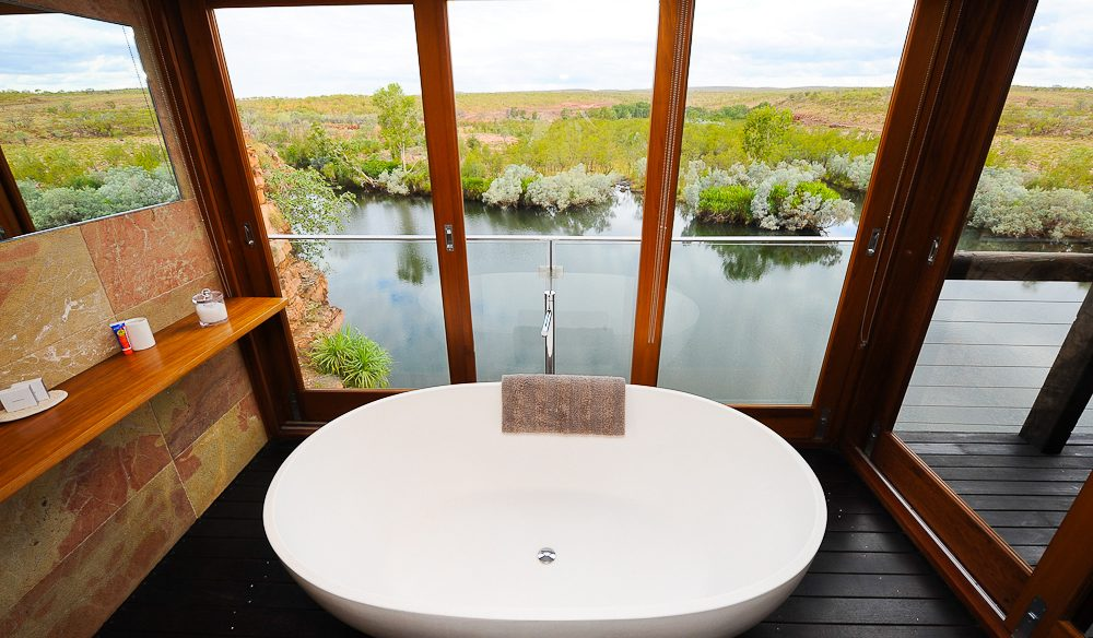 El Questro's beautiful bath tub view of the Kimberley.