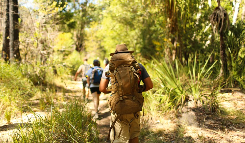 On the march back from Maguk, Kakadu (photo: Jennifer Pinkerton).