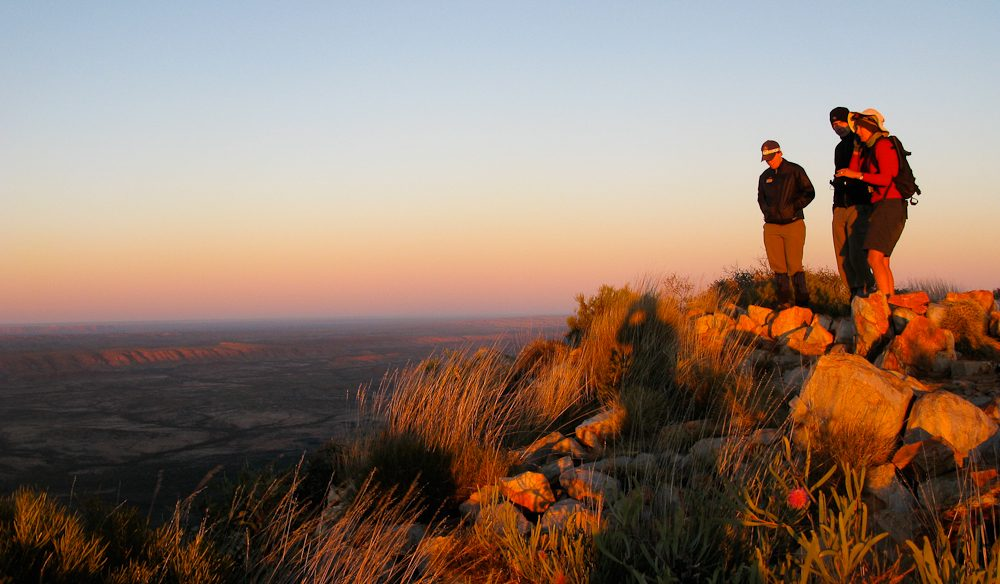 See the light: Rewarding break on the Larapinta Trail.