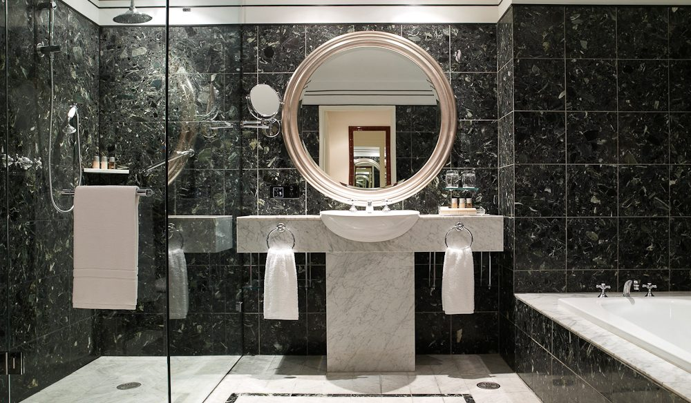Marble drenched bathroom, Hyatt Hotel, Canberra.