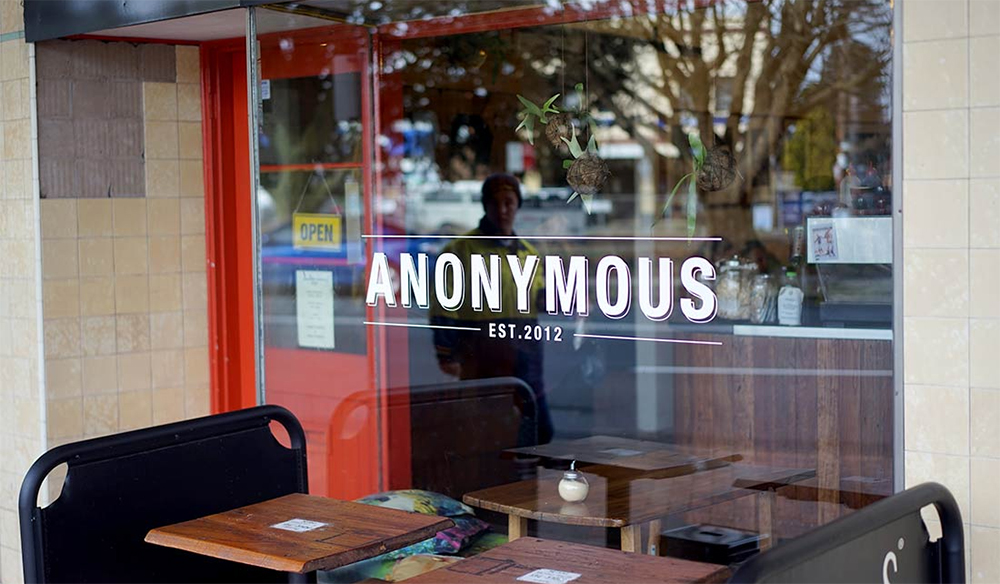 Anonymous cafe shopfront
