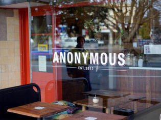 Anonymous Cafe shopfront.