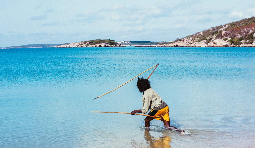 Indigenous spear fishing east Arnhem Land