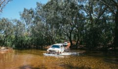 Bridge too far: River crossings are all part of driving through east Arnhem Land, even in the dry (photo: Elise Hassey).