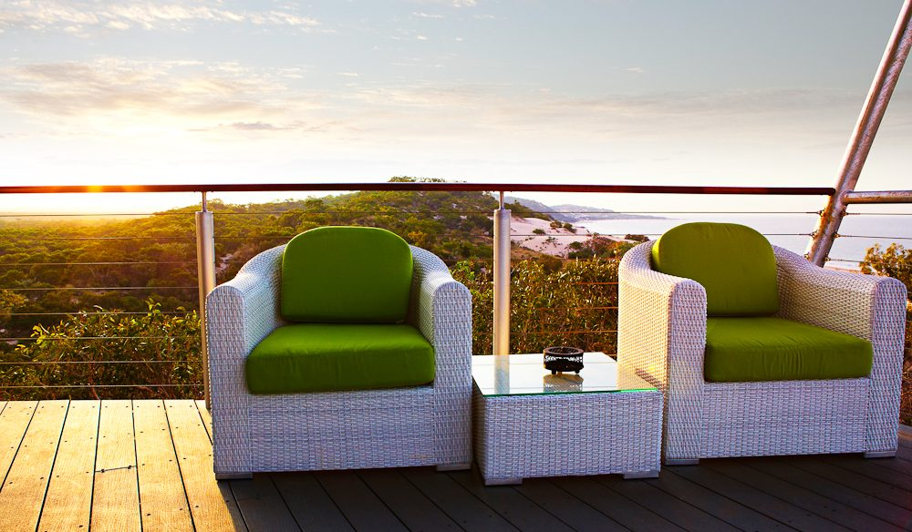 Balcony room with a desert difference, Berkeley River Lodge, Kimberley Coast.