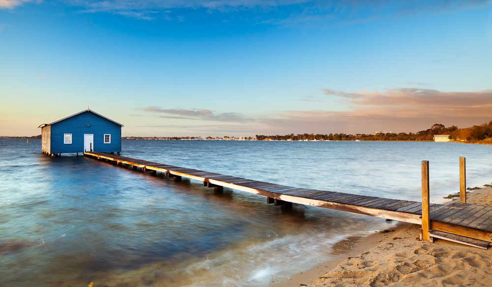 Perth icon: Crawley Edge Boatshed Matilda Bay, Swan River.