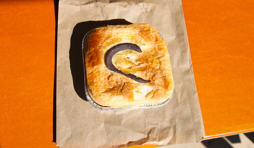 The 'C' means it's a camel pie, Birdsville Bakery (photo: Steve Madgwick).