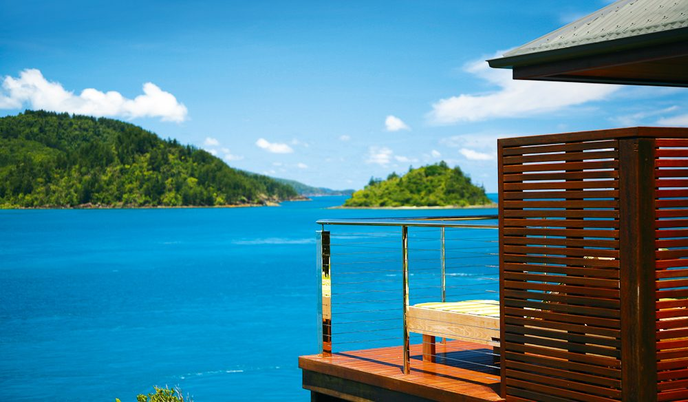 Sought-after balcony, qualia, Hamilton Island.