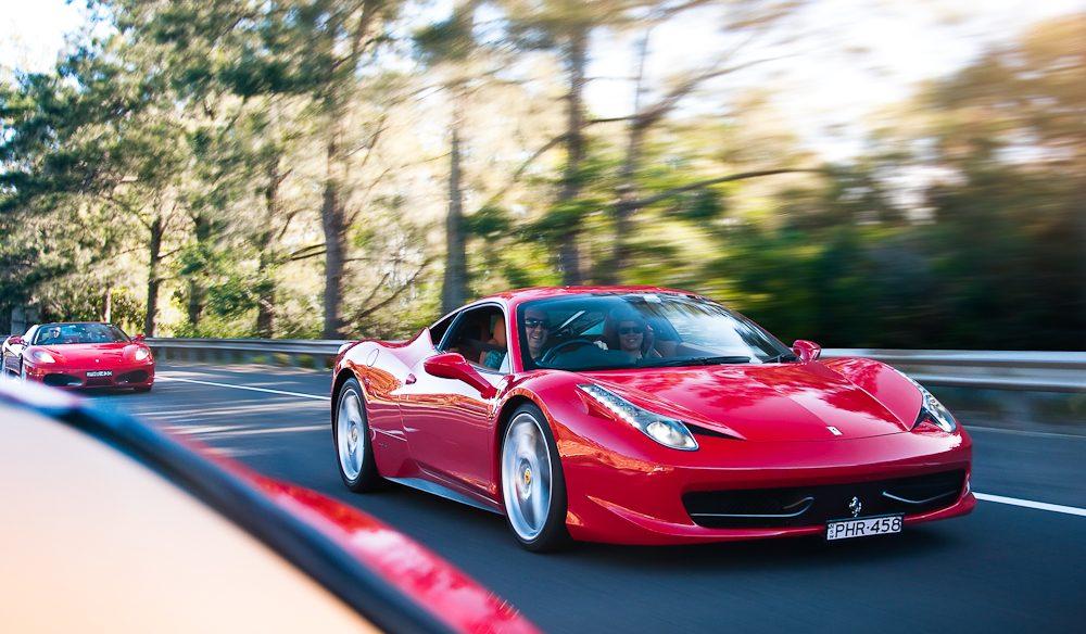 The Yarra Valley plus a Ferrari 458 Italia make for a grand day.
