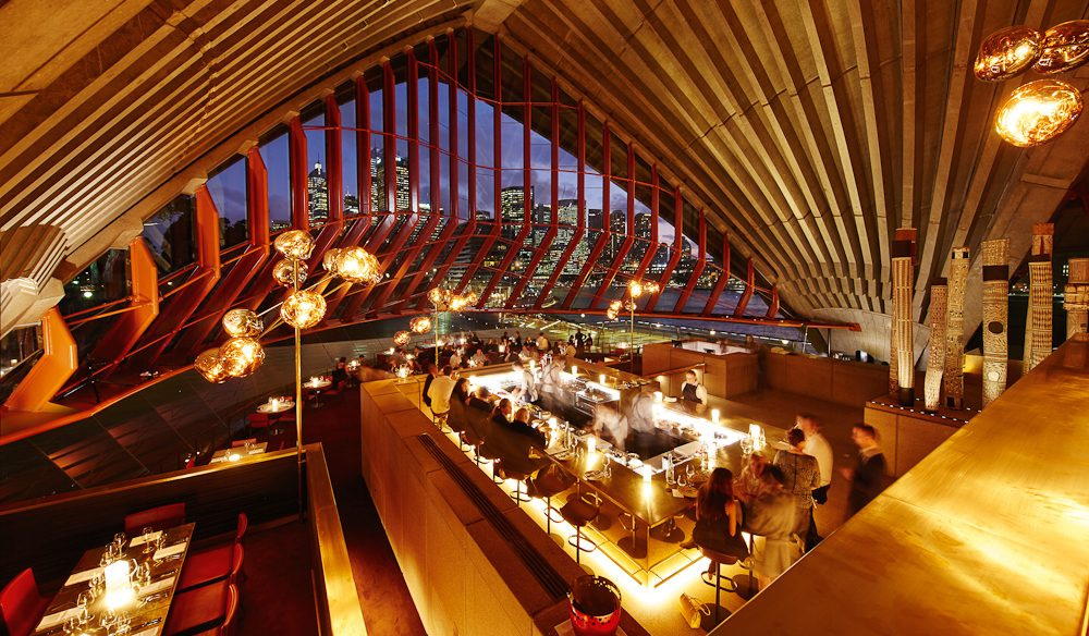 Operatic dining hall, Bennelong, Sydney Opera House.