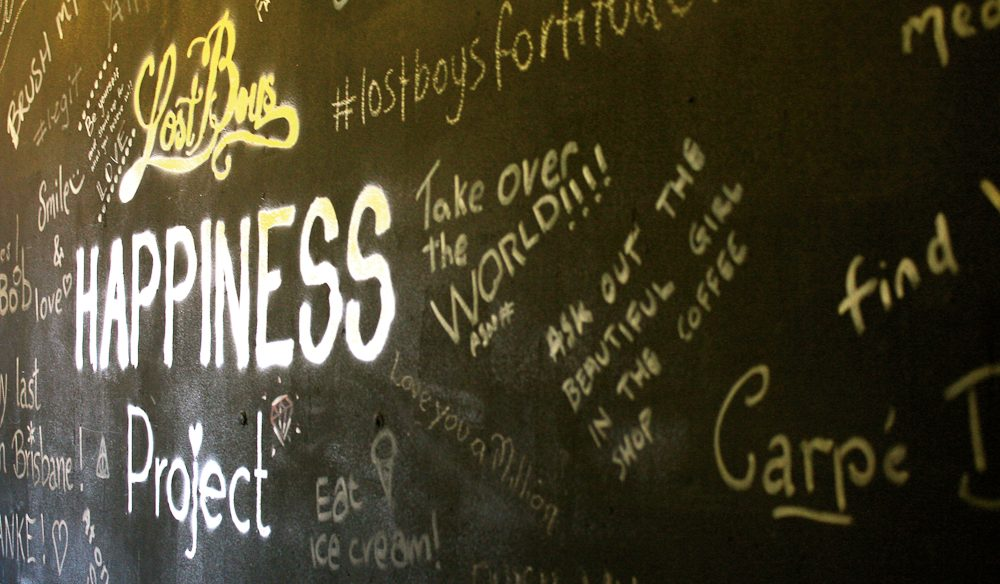 Spreading a little happiness at Lost Boys cafe.