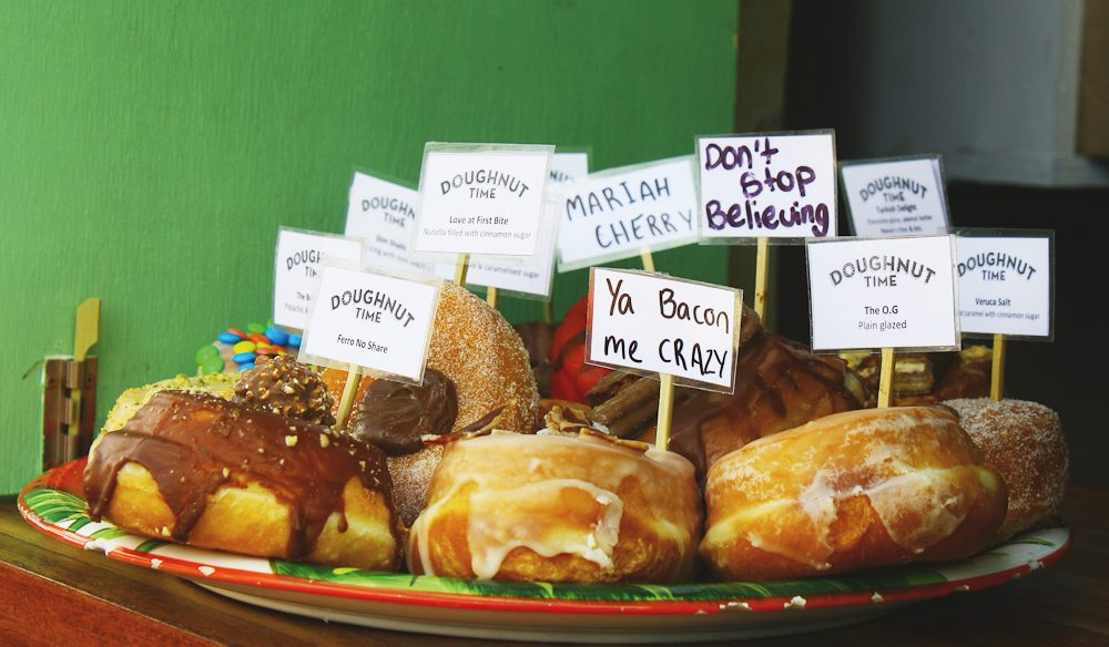 The whimsical delights of Doughnut Time.