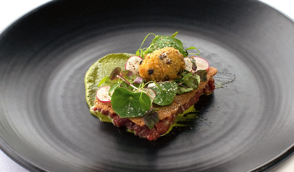 Wallaby Tartare at Paringa Estate.