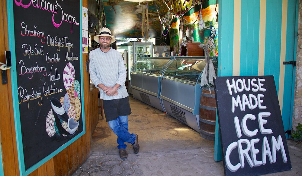 Neil Welsh of Robe's Ice Cream Shop