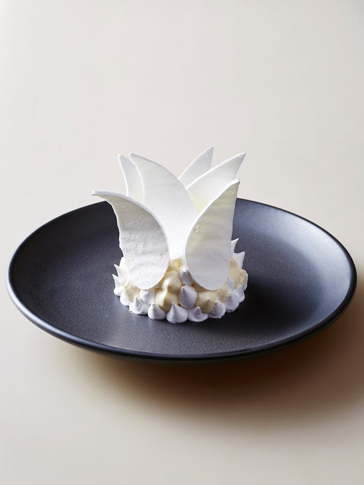Peter Gilmore's Sydney Opera House-inspired (and Bennelong signature dessert) meringue.