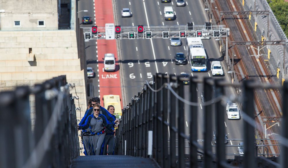 Climbing the Sydney Harbour Bridge climb