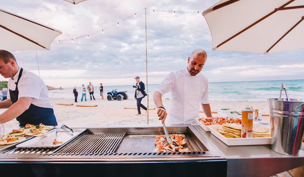 Barbecue with the stars: George Calombaris at Gourmet Escape.