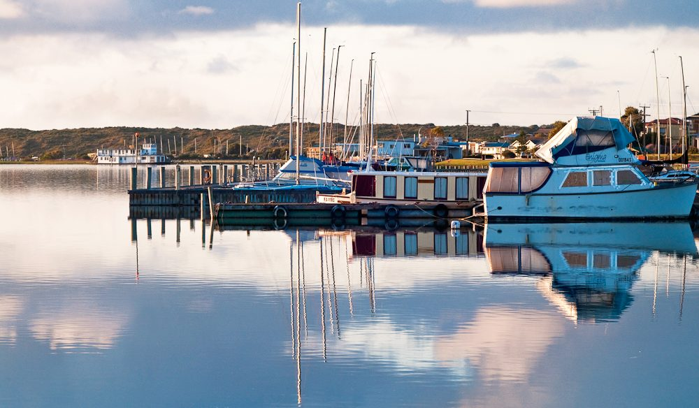 Just reflecting, Birks Harbour Marina, Goolwa.