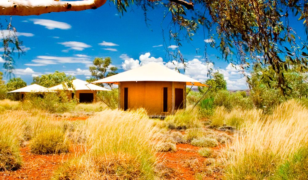 Glamping Karijini Eco Retreat style.