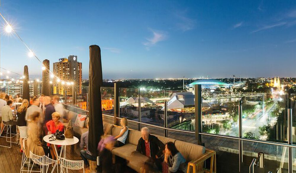 Adelaide high society: 2KW Rooftop Bar.