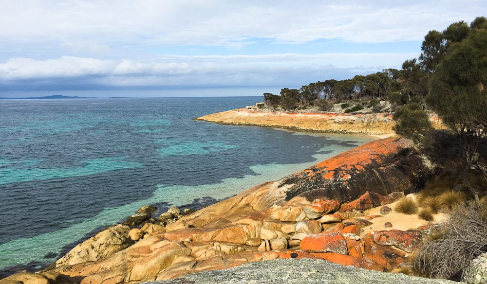 The colourful Trousers Point, Flinders Island (photo: Megan Arkinstall).