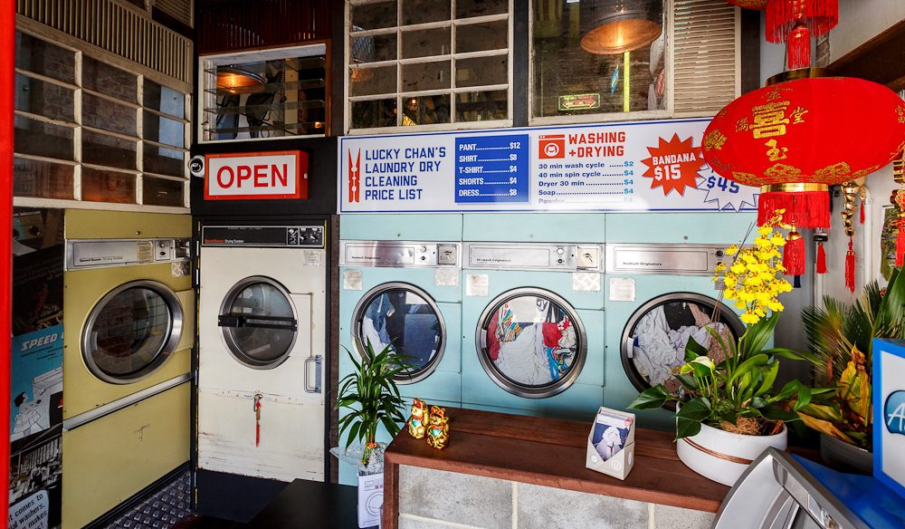 Yes, Lucky Chan's is an actual laundry (photo: Jessica Wyld).