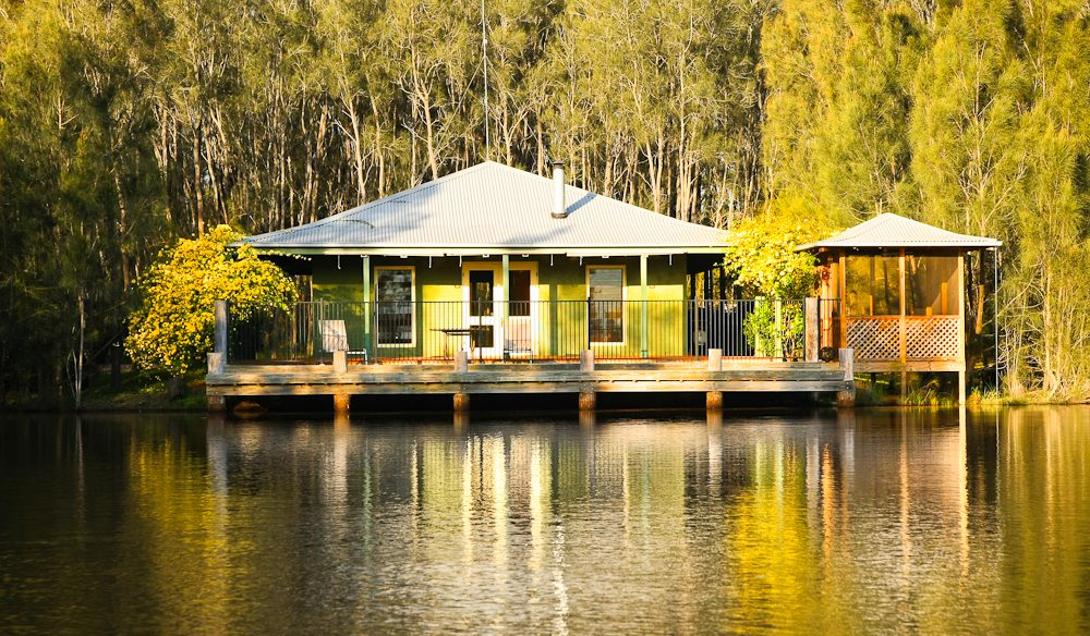 Survey the dam from the decks of the two-bedroom Billabong Cottage.