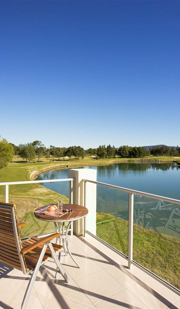Swinging golf course views from the villa, Crowne Plaza Hunter Valley.