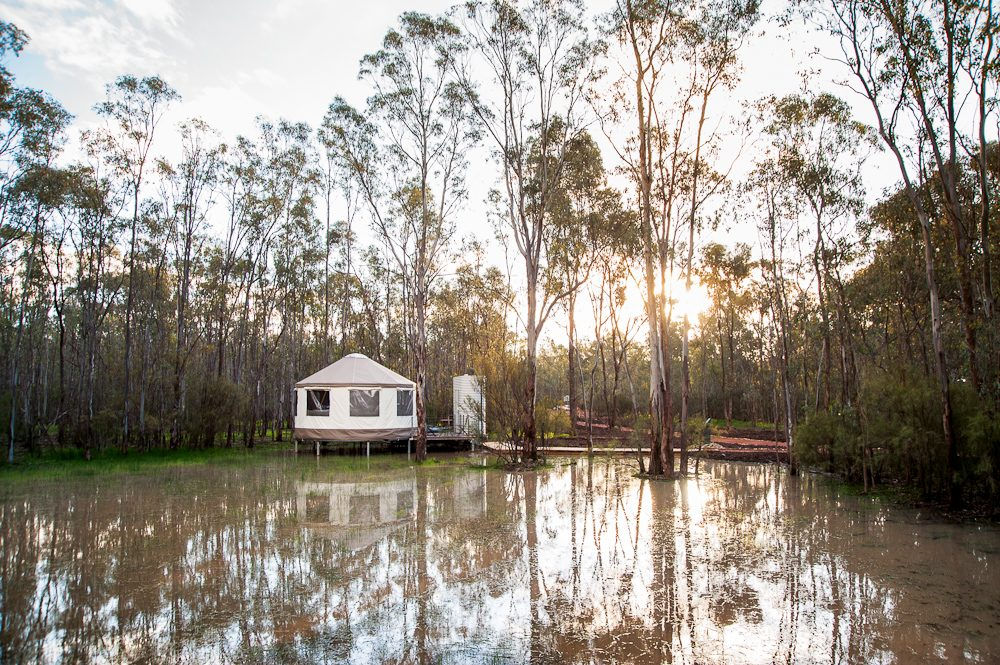 Yep, a Yurt on the Murray: Talo Retreat, Echuca.