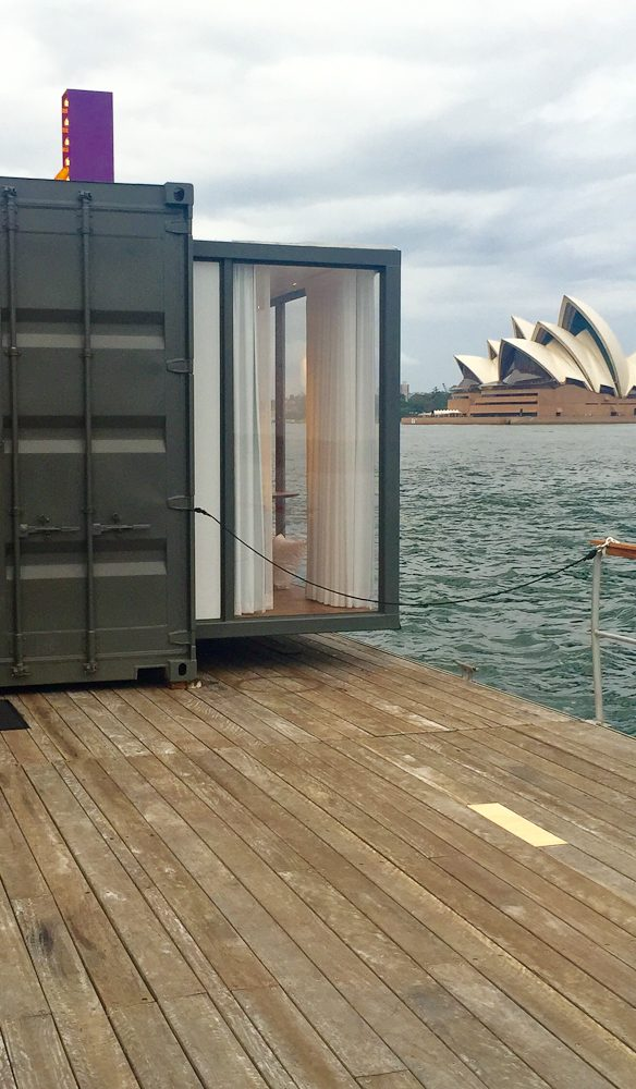 On deck: HotelTonight's Spontaneity Suite with a floating opera house view