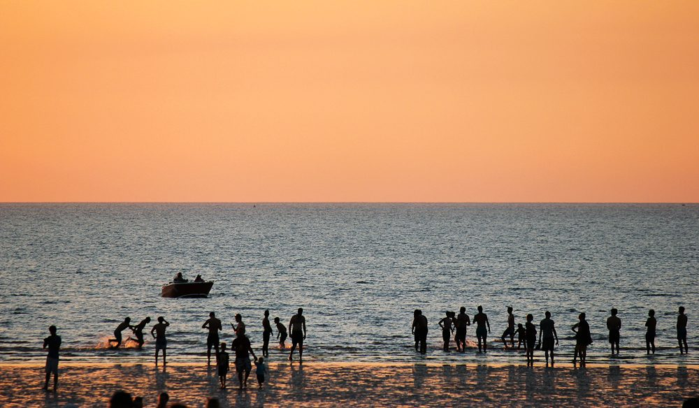 Sunsets are a popular spectacle on Mindil Beach.